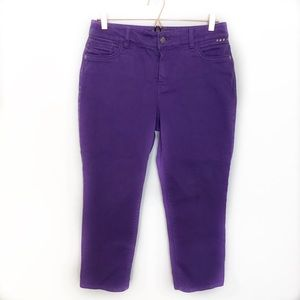 Chicos 1.5 So Slimming Jeans Purple Straight Ankle
